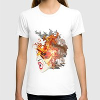Fire- From World Element… Womens Fitted Tee White SMALL