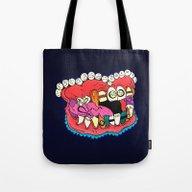 Tote Bag featuring Blingteeth by Minniemorrisart