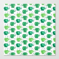 Thousands Of Little Gree… Canvas Print