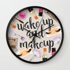 Wake Up And Make Up Wall Clock
