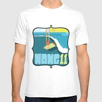 Hang 11 Mens Fitted Tee White SMALL