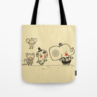 Forest Friends \ Cute Animals March\ elephant cats dogs  Tote Bag