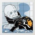 Star Wars Pop Art - Vader Wash Canvas Print