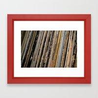 Records  Framed Art Print