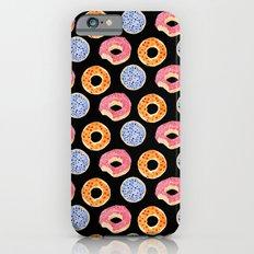 sweet things: doughnuts (black) iPhone 6s Slim Case