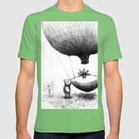 Zander And His Balloon  Mens Fitted Tee Grass SMALL