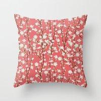 Go Orient Cherry Blossoms Throw Pillow