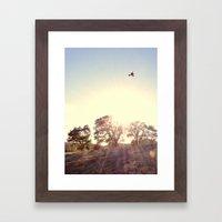 A Hawks View Framed Art Print