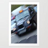 London: Taxi Art Print