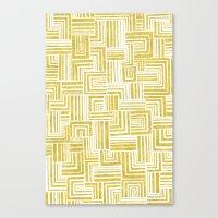 Golden Doodle weave Canvas Print