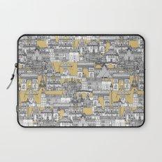Paris toile gold Laptop Sleeve