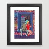 Framed Art Print featuring Girl From The Neighborho… by Robert Deutsch