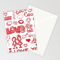Love Comics Stationery Cards