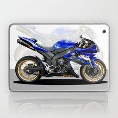 Yamaha R1 blue Laptop & iPad Skin