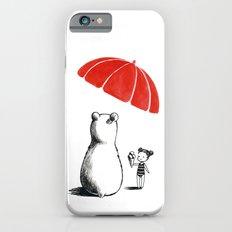 Polar bear at the beach iPhone 6s Slim Case