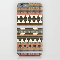 girl iPhone & iPod Cases featuring DG Aztec No.1 by Dawn Gardner
