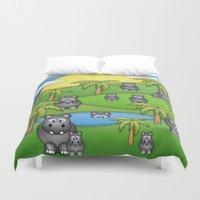Hippos. Duvet Cover