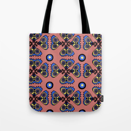 Butterflies and Dots Tote Bag