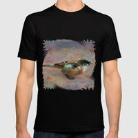 Rainbow bird Mens Fitted Tee Black SMALL