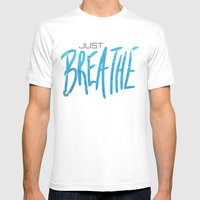 Just Breathe Mens Fitted Tee White SMALL