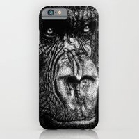 iPhone & iPod Case featuring The Wise Simian (Gorilla) by Nathan Cole