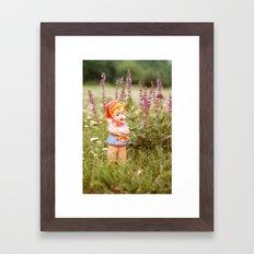 Girl with duck Framed Art Print