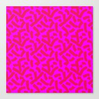 Hot Pink Cheese Doodles … Canvas Print