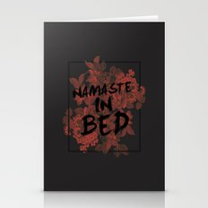 Namaste In Bed Stationery Cards
