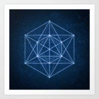 Sacred geometry / Minimal Hipster Symbol Art Art Print