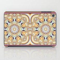 Elegant golden geometric kaleidoscope iPad Case
