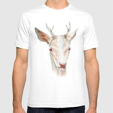 Stag Mens Fitted Tee White SMALL