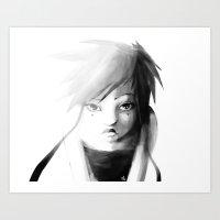 Grey Japanita Art Print