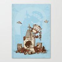 Laundry Monkie Canvas Print