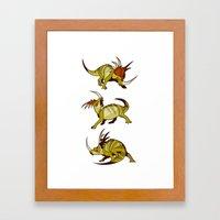 Styracosaurus Framed Art Print