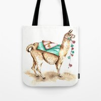 Watercolor Llama Tote Bag