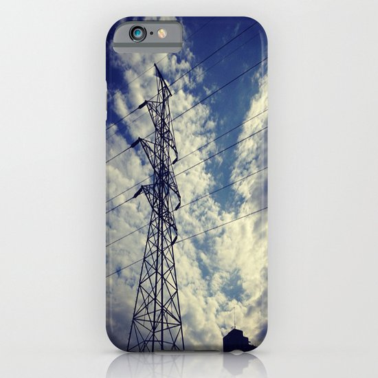 Heavenly spring sky in an industrial world iPhone & iPod Case