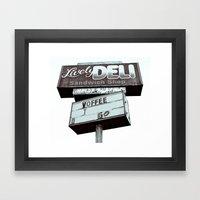 Old Deli Sign Framed Art Print