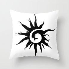 Sun Spiral (black) Throw Pillow