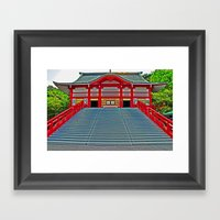 Red Temple Framed Art Print