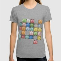 Balloons Womens Fitted Tee Tri-Grey SMALL