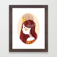 Hedgehog my Friend Framed Art Print