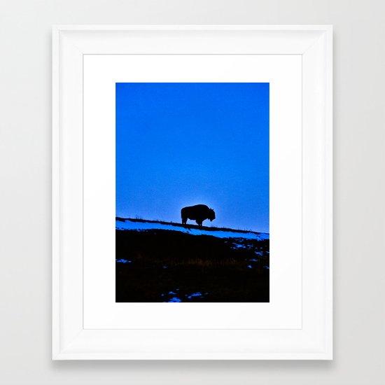 The Last Buffalo Framed Art Print