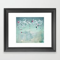 Heart Candy Raincloud Framed Art Print
