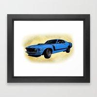 Ford Mustang Boss 302 - Grabber Blue Framed Art Print