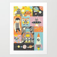 Art Print featuring Give Us Space by Greg Abbott