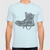Oldies but Goodies Mens Fitted Tee Light Blue SMALL