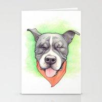 Pitbull - Love is blind - Stevie the wonder dog Stationery Cards