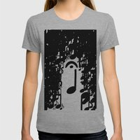Musical Rain Womens Fitted Tee Athletic Grey SMALL