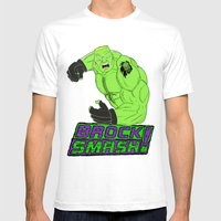 Brock Smash! Mens Fitted Tee White SMALL