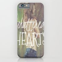 iPhone & iPod Case featuring Shattered Hearts Club by manduhpaige